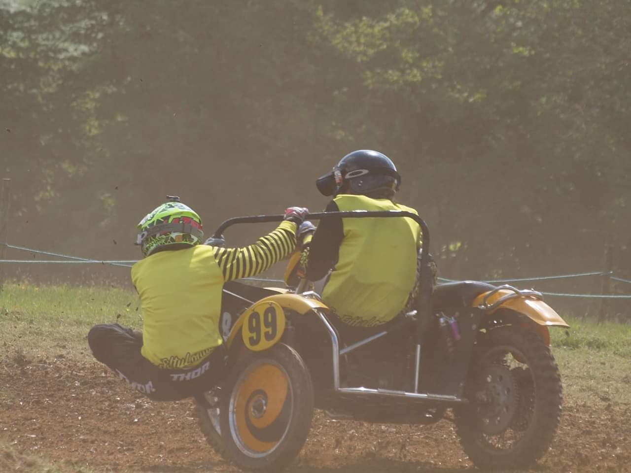 Winning Moto Cross Side Car Racers With TTI Sequential Race Gearbox